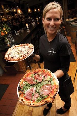A server at Pizzeria Verità in 2014 - FILE: MATTHEW THORSEN ©️ SEVEN DAYS