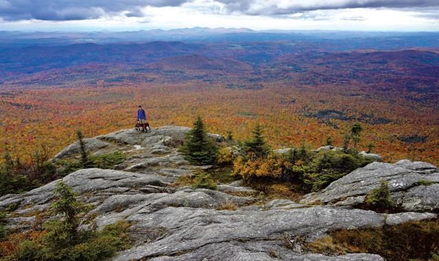 A foliage hike at White Rock Mountain - COURTESY OF AMY POTTER/GREEN MOUNTAIN CLUB