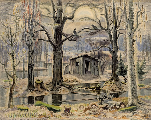 """""""The Glory of Spring"""" by Charles Burchfield - COURTESY OF WILLIAMS COLLEGE MUSEUM OF ART"""