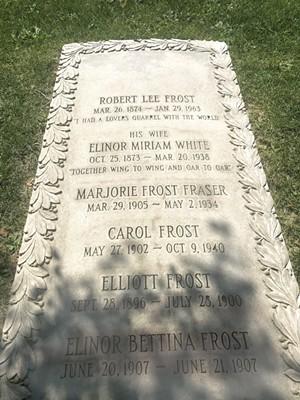 Robert Frost's grave in Old Bennington - SALLY POLLAK