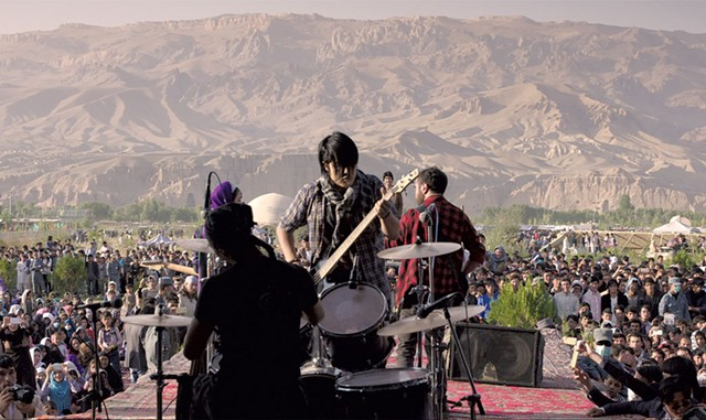 ROCK ON A band called Arikain takes big risks to perform in Afghanistan in Noori's bittersweet documentary. - COURTESY OF VENERA FILMS