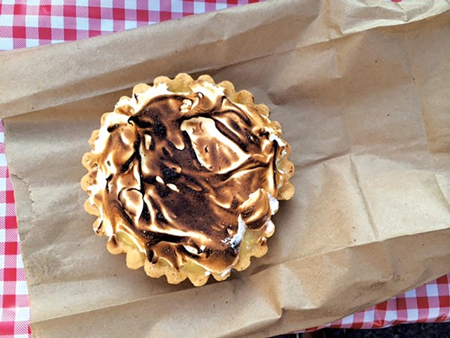 Rhubarb tart from Jam Bakery - JULIA CLANCY