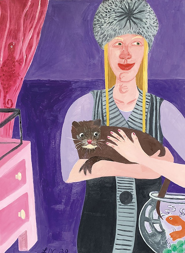 """""""Lady With Pets"""" by Luke Carlson - COURTESY"""