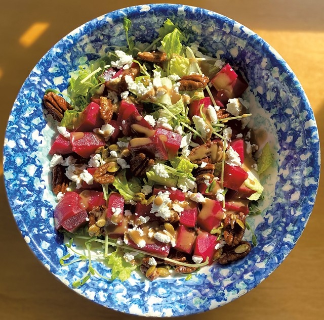 Beet salad by Harwood student Mae Murphy, created for the Harvest of the Month recipe contest - COURTESY OF MAE MURPHY