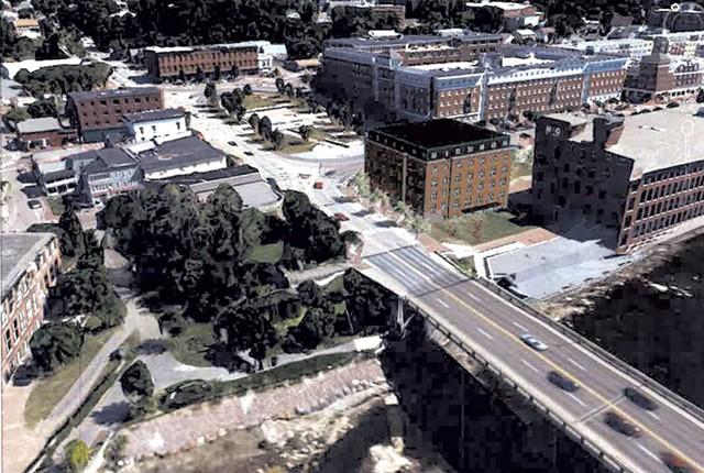 Rendering of proposed hotel in Winooski