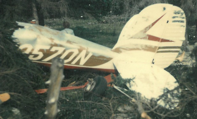 Wreckage from the 1979 plane crash in Hinesburg - COURTESY OF PHIL GIANELLI