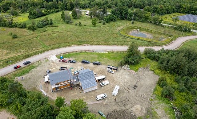 Aerial view of Phil and Debbie Gianelli's Hinesburg property - JAMES BUCK
