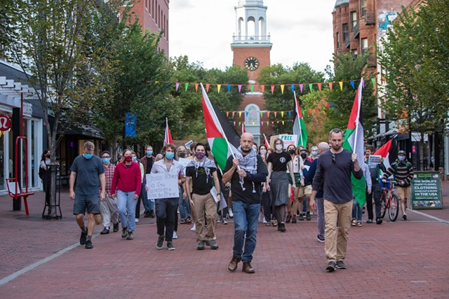 Justice for Palestine activists marched on Church Street - LUKE AWTRY