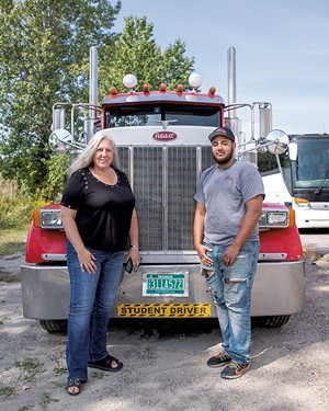 Pro Driver Training owners Liz Green and her son, Alex Johnson - LUKE AWTRY