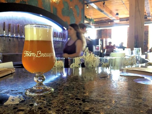 Orange Dot at Foam Brewers - HANNAH PALMER EGAN