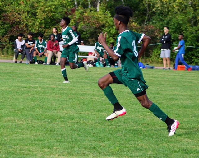 A Winooski High School soccer game this fall - COURTESY OF THE WINOOSKI SCHOOL DISTRICT
