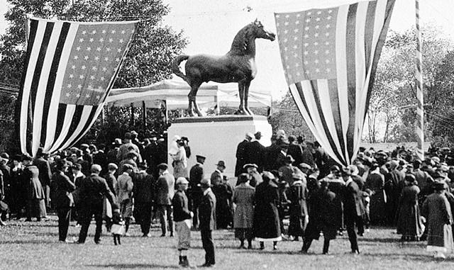 Statue Centennial Celebration - COURTESY OF UVM MORGAN HORSE FARM ARCHIVES