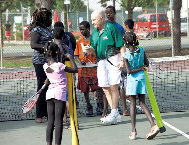 Jake Agna teaching tennis in Burlington - FILE: MATTHEW THORSEN