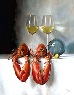 """""""Lobsters for Two"""" by Julie Y Baker Albright - COURTESY OF FURCHGOTT SOURDIFFE GALLERY"""