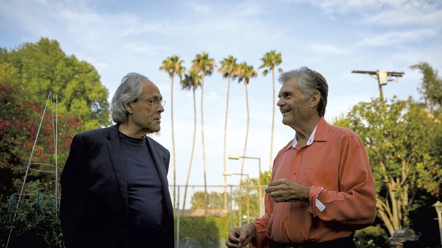 """Robert Klein  (left) with Fred Willard, from """"Robert Klein Still Can't Stop His Leg"""" - COURTESY OF ADIRONDACK FILM SOCIETY"""