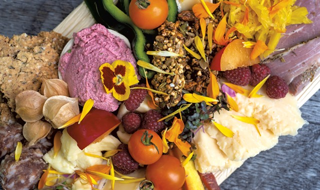 The Omnivore Pleasure Platter at Live Forever Foods - JEB WALLACE-BRODEUR