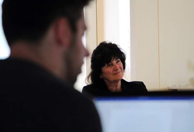 Ruth Reichl co-teaching at Sterling College - COURTESY OF BEANA BERN