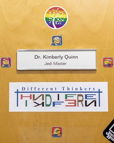 Dr. Kimberly Quinn's office door - LUKE AWTRY