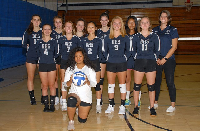 Burlington High School's girls' varsity volleyball team - COURTESY OF BURLINGTON SCHOOL DISTRICT