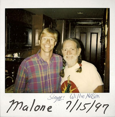 Tom Messner with Willie Nelson - COURTESY