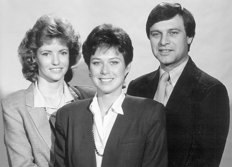 From left: Sharon Meyer, Alexandra Marks and Brad Wright, circa 1990 - COURTESY