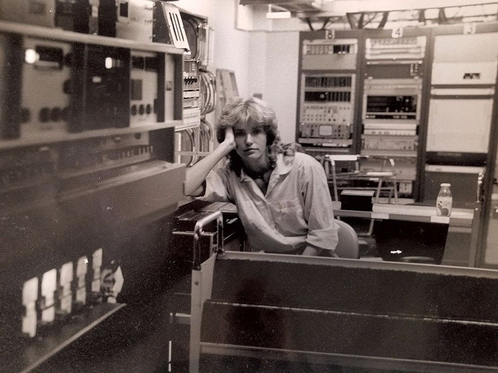 Sharon Meyer at WCAX in 1979 - COURTESY