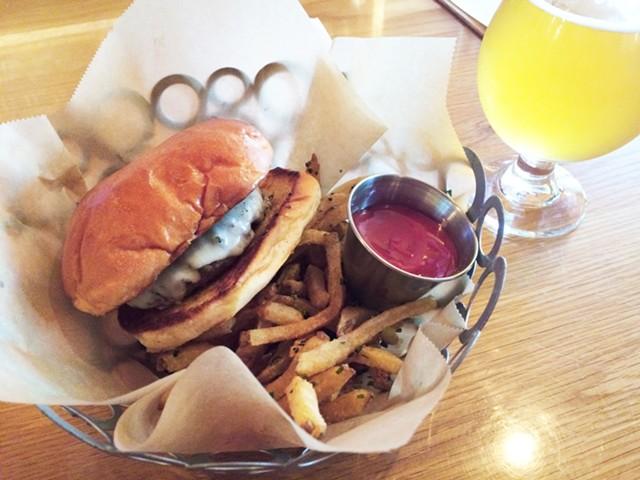 Mule Bar's $8 cheeseburger - HANNAH PALMER EGAN