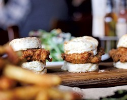 Fried chicken biscuits at Prohibition Pig - COURTESY OF ROCKET