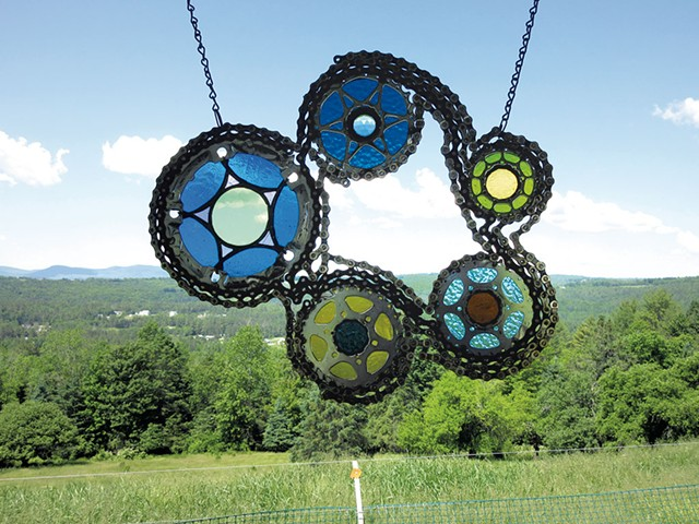 """Chain Rings 1"" by Terry Zigmund - AMY LILLY"