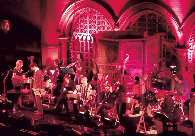 Hadestown in concert, Union Chapel in London with Martin Carthy - COURTESY OF MICHAEL CHORNEY