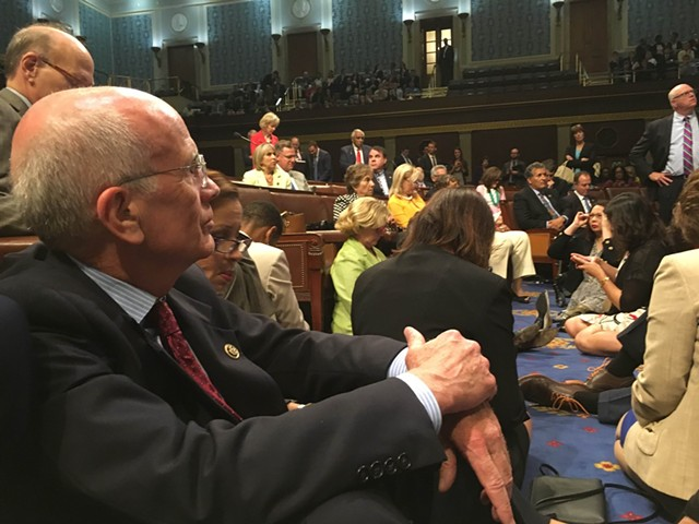 Congressman Peter Welch takes part in a sit-in Wednesday on the House floor. - COURTESY: OFFICE OF CONGRESSMAN PETER WELCH