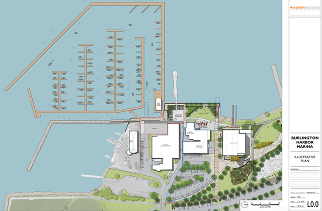 Current rendering of Burlington Harbor Marina - COURTESY: WAGNER HODGSON