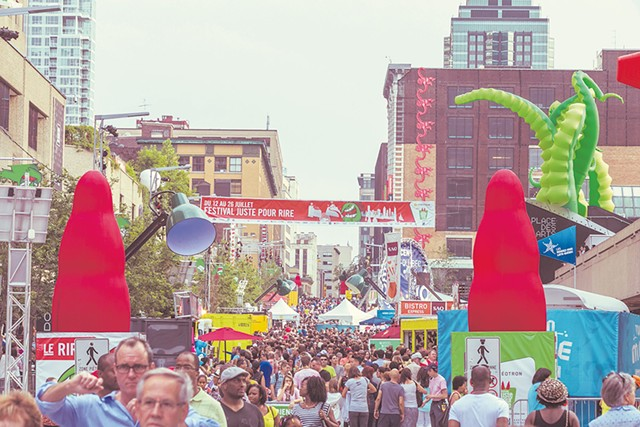 Street scene from last year's festival - COURTESY OF JUST FOR LAUGHS FESTIVAL