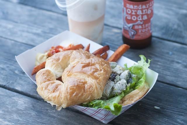 Chicken salad sandwich at Whippi Dip - HANNAH PALMER EGAN
