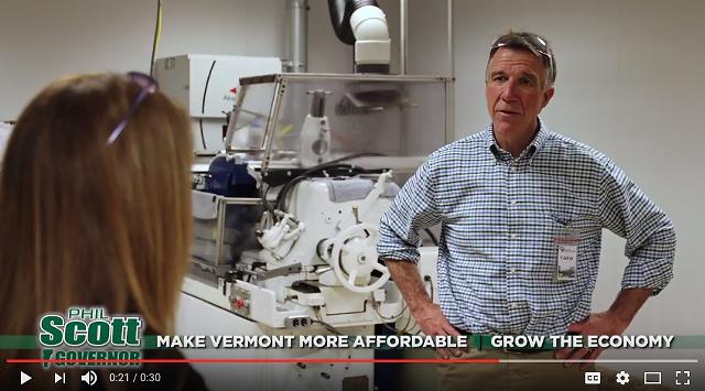 Republican gubernatorial candidate Phil Scott's new TV ad