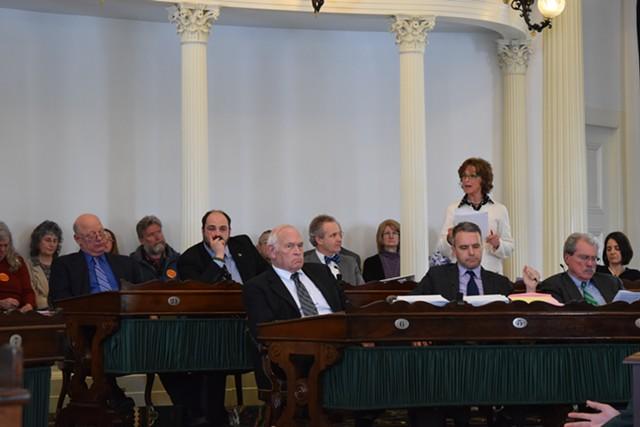 Senators reaffirm the state's end-of-life law in 2015. - TERRI HALLENBECK/FILE