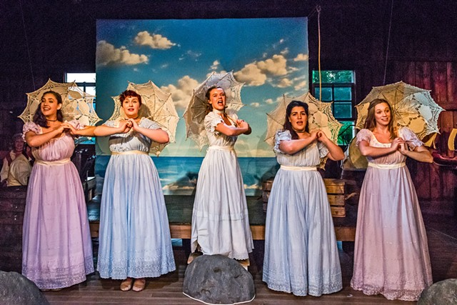 Singing sisters in The Pirates of Penzance - COURTESY OF DAVID GARTEN