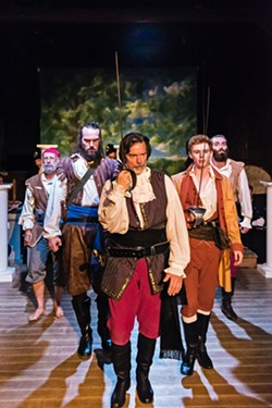 The pirates looking uncharacteristically somber - COURTESY OF DAVID GARTEN