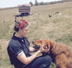 Courtney Grimes-Sutton with one of her dogs - MOLLY WALSH