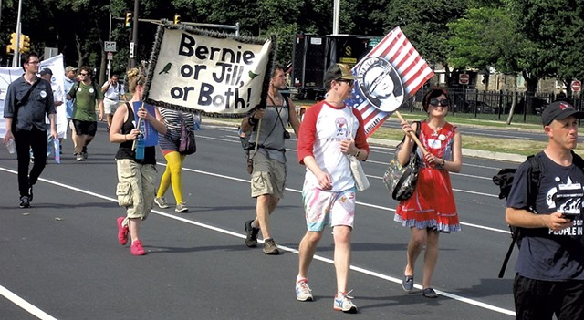 Some Sanders backers also showing support for Green Party candidate Jill Stein - KEVIN J. KELLEY