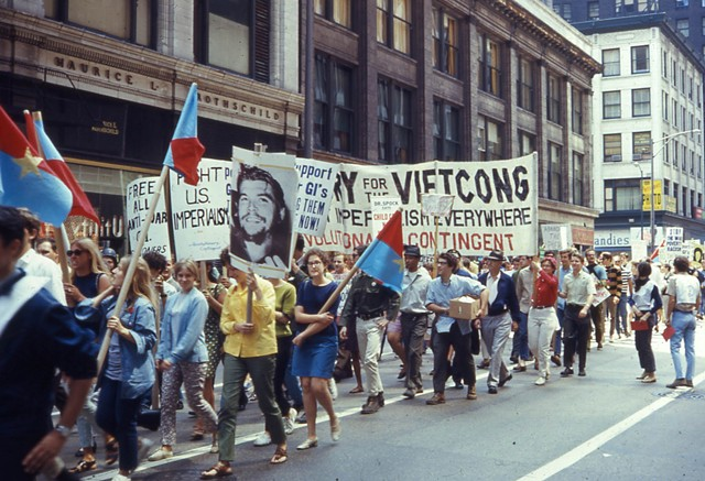 Antiwar protesters march in advance of the 1968 Democratic National Convention in Chicago. - DAVID WILSON