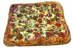 Pizza with the works at Shaggy's Snack Bar & Pizza - JULIA CLANCY