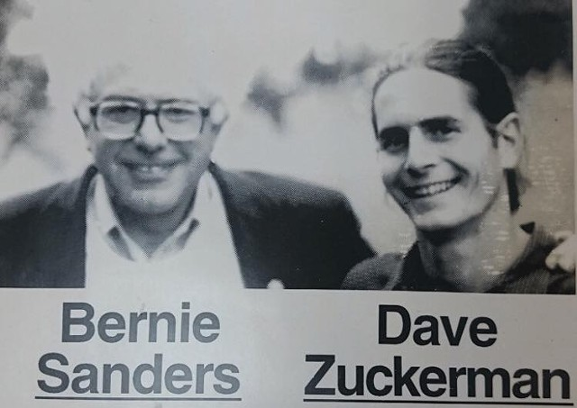 Undated photo of Sen. Bernie Sanders and Sen. David Zuckerman from a previous campaign - COURTESY: DAVID ZUCKERMAN