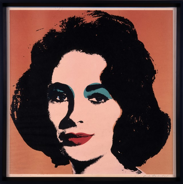 """Liz (F. & S.7),"" lithograph by Andy Warhol - COURTESY OF THE HYDE COLLECTION"