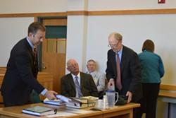 Sen. Norm McAllister (center) in court in June - TERRI HALLENBECK/FILE