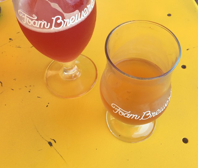 The Purple One and Mellow Gold at Foam Brewers in Burlington - JULIA CLANCY