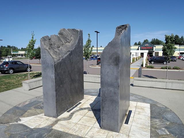A sculpture in the Milton Square plaza - MATTHEW THORSEN