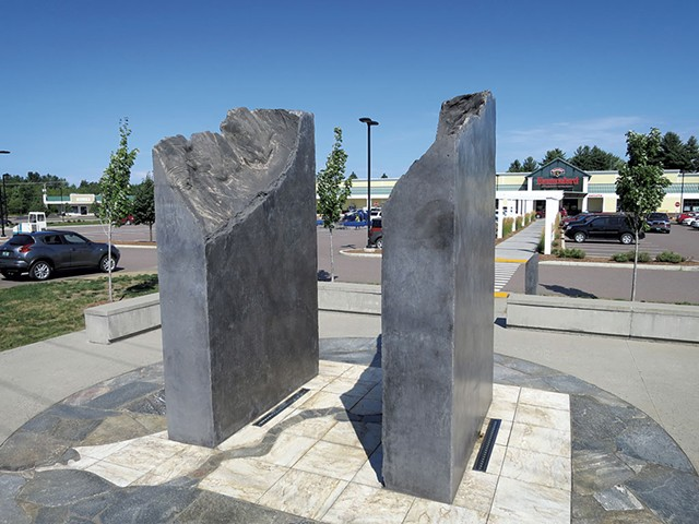 A sculpture in the Milton Square plaza - MATTHEW THORSEN