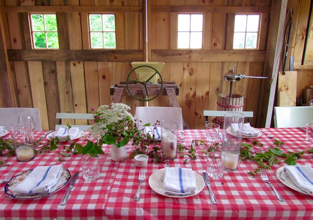 Table set for lunch at La Garagista Farm and Winery - JULIA CLANCY