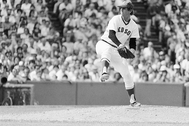 Bill Lee playing for the Boston Red Sox in the 1970s